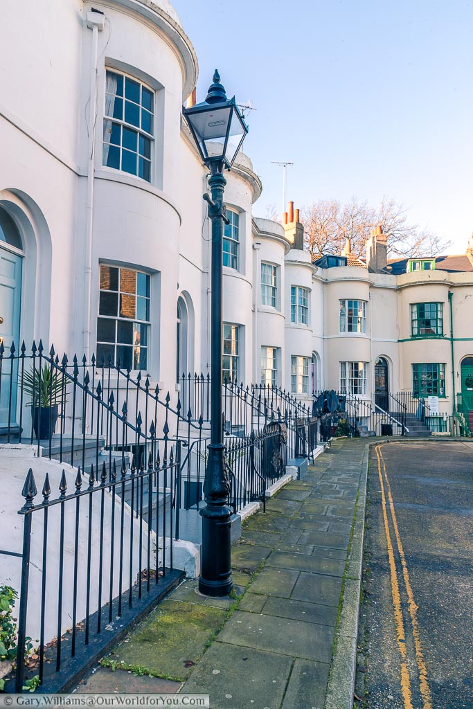 Another street in Ramsgate tucked around the corner with elegant homes the light Victorian era.