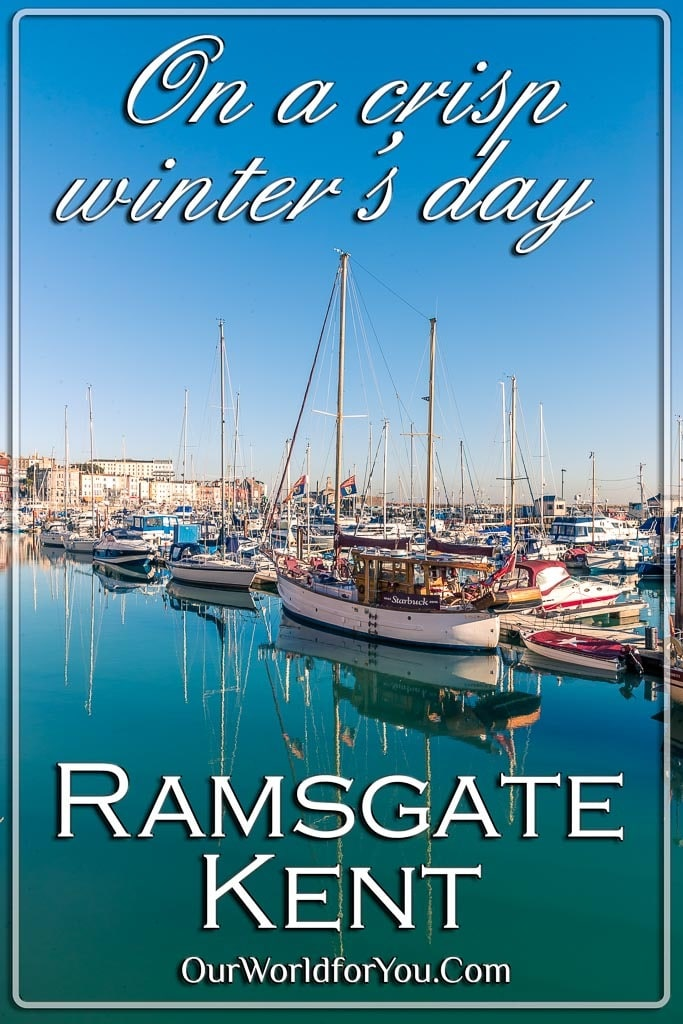 The Pin image for our post - 'Ramsgate in Kent on a crisp winter's day'