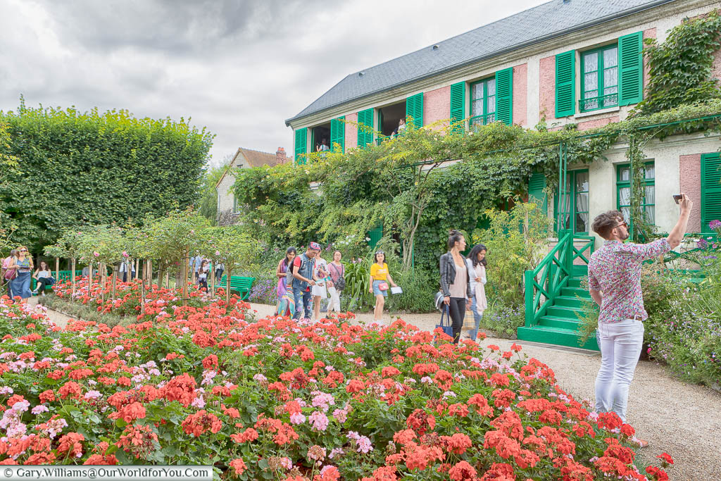 Claude Monet's home in Giverney from the gardens.