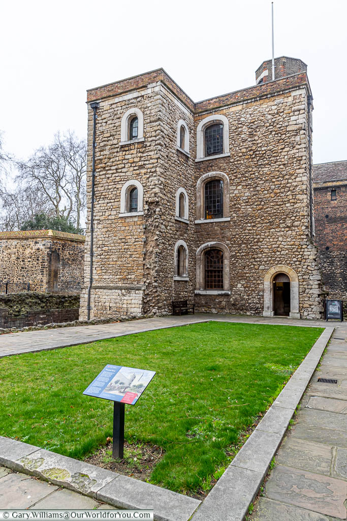 The Jewel Tower in Westminster.  This is the only surviving element of the original Palace of Westminster.
