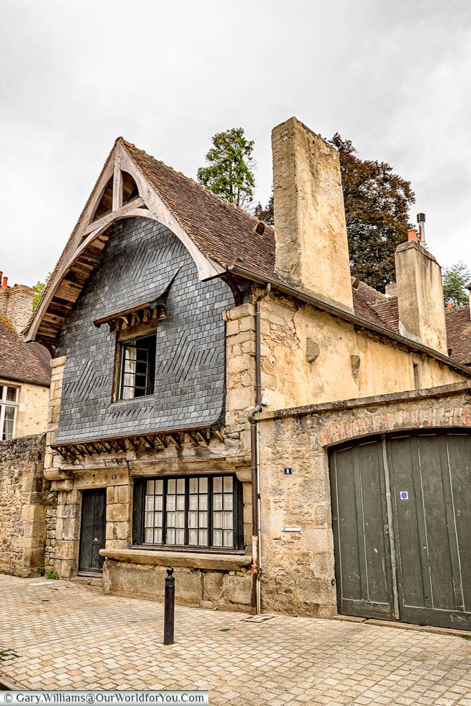 Maison à l Étal; a 16th-century building that would have served as both a come and shop in Alençon, Normandy
