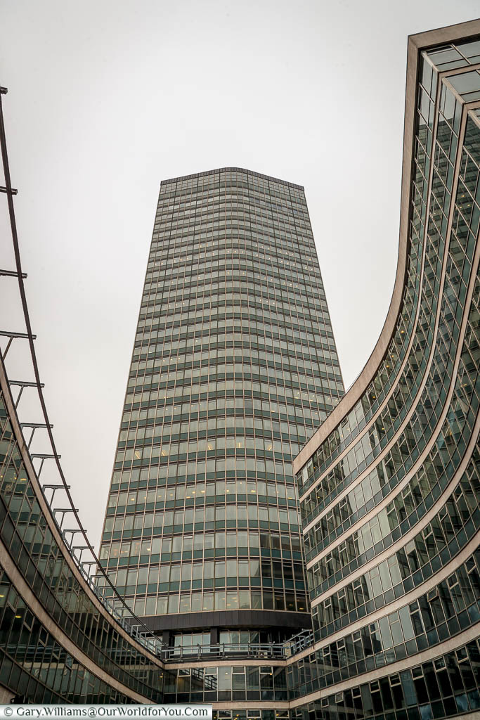 The Millbank tower is shooting out of the Millbank complex on the banks of the River Thames in Westminster.