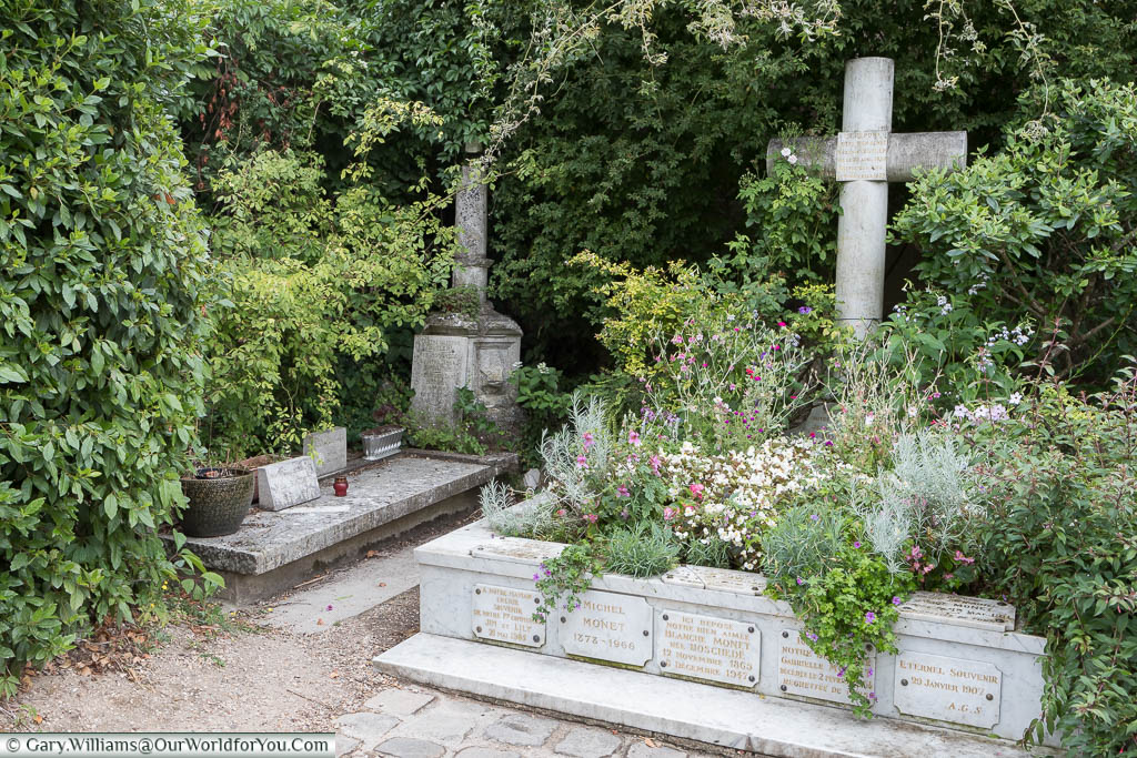 The family plot in the graveyard of the Monet family, including the last resting place of Claude, in the Église Sainte-Radegonde de Giverny