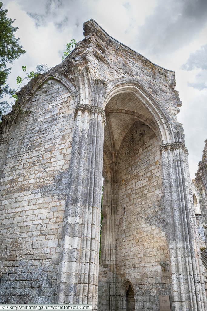 The remains of a chapel at the nave end of the Jumieges Abbey in Normandy.