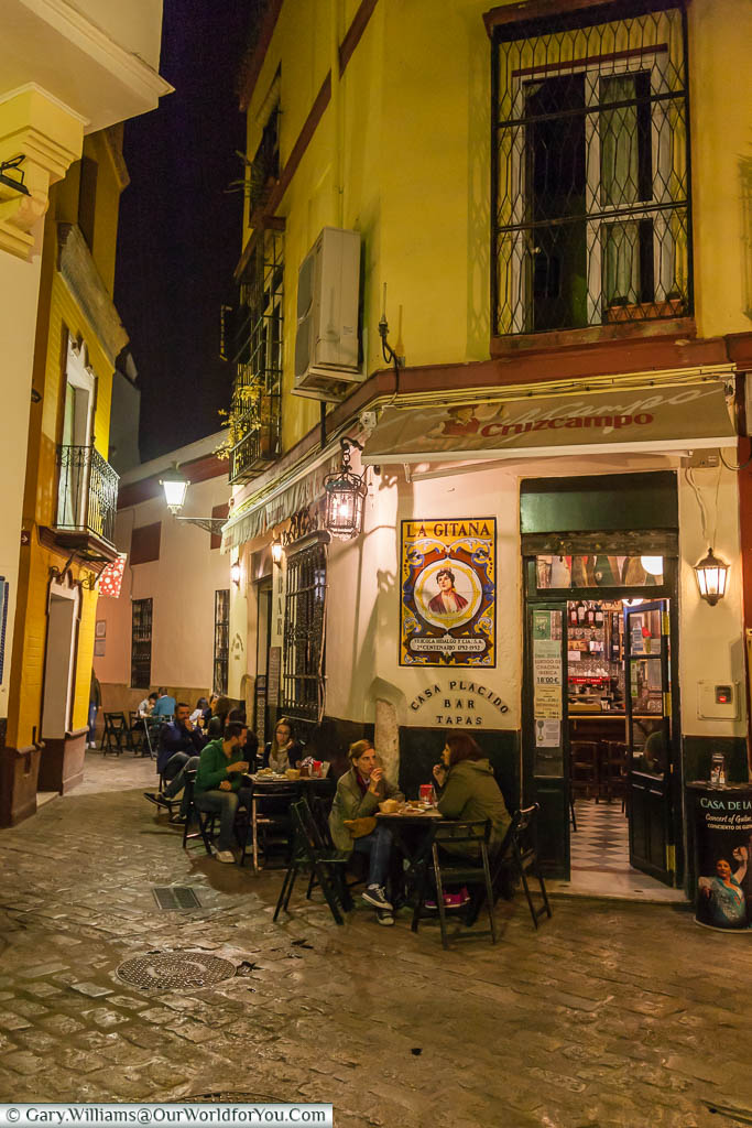 A small place that became a favourite of our Casa Placido tapas bar, Seville, Spain