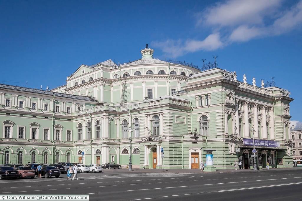 The world famous Ballet & Opera Mariinsky Theatre., Saint Petersburg, Russia