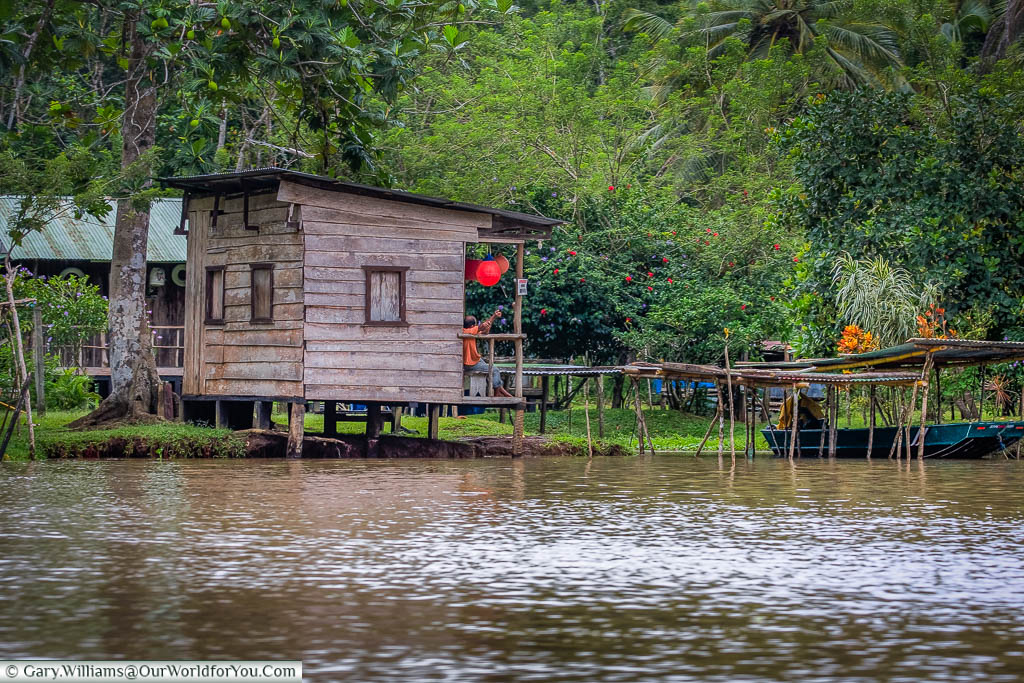 A fisherman's shack on the shoreline of Tortuguero, Costa Rica