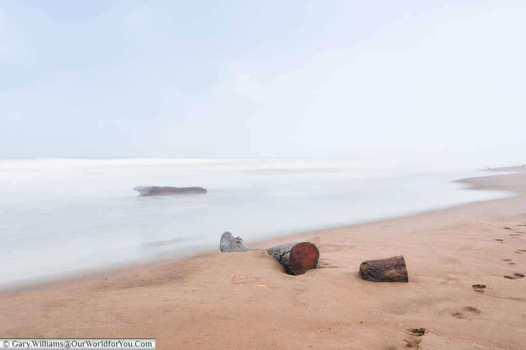 A long exposure shot of the Caribbean beach at Tortuguero on our last day