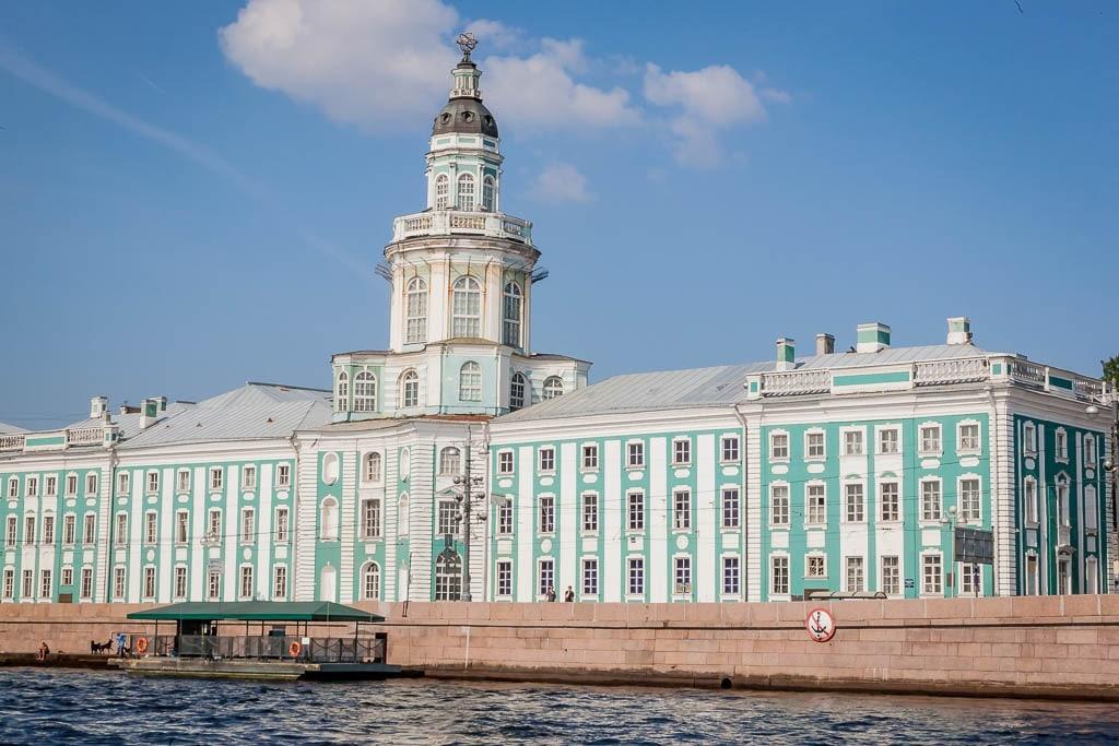 The Kunstkamera Museum in Saint Petersburg, by the edge of the River Neva.
