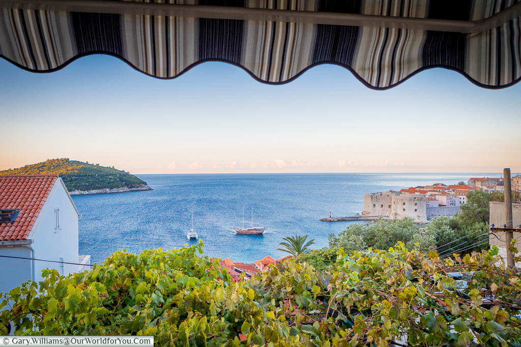 The view from Villa Leoni, Dubrovnik, Croatia