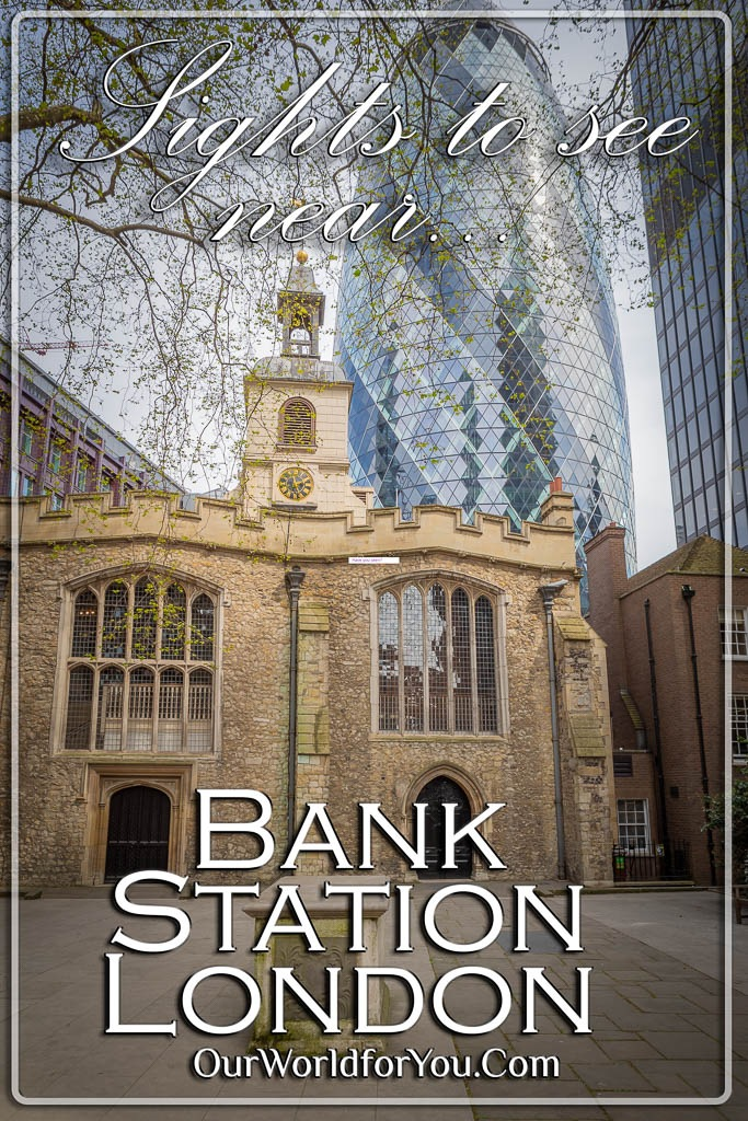 The Pin image for our post - 'Discover the streets nearby Bank tube station'