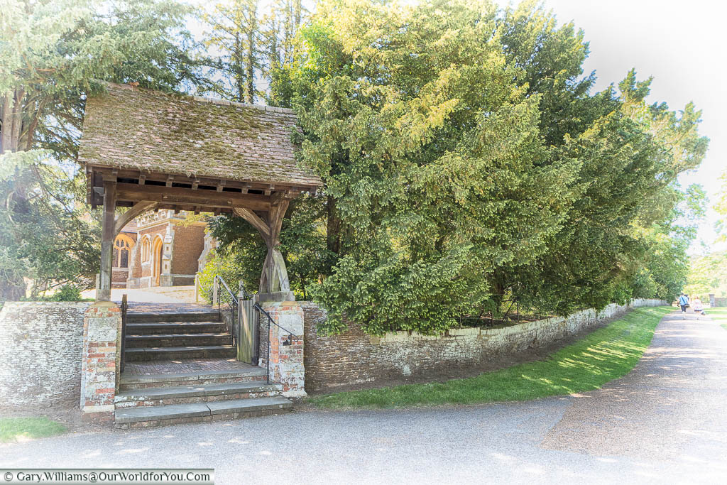 The archway leading to the entrance to St Mary Magdalene's Church in Sandringham, Norfolk