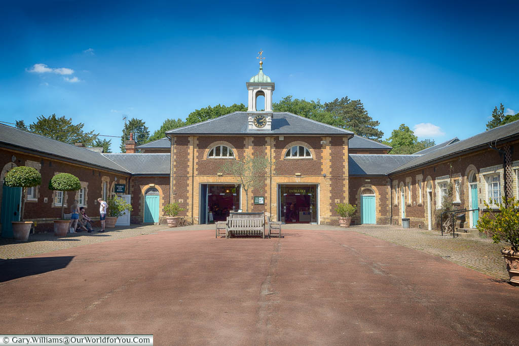 The courtyard of the former stables, that is now home to Sandringham Museum in the grounds of the royal residence.