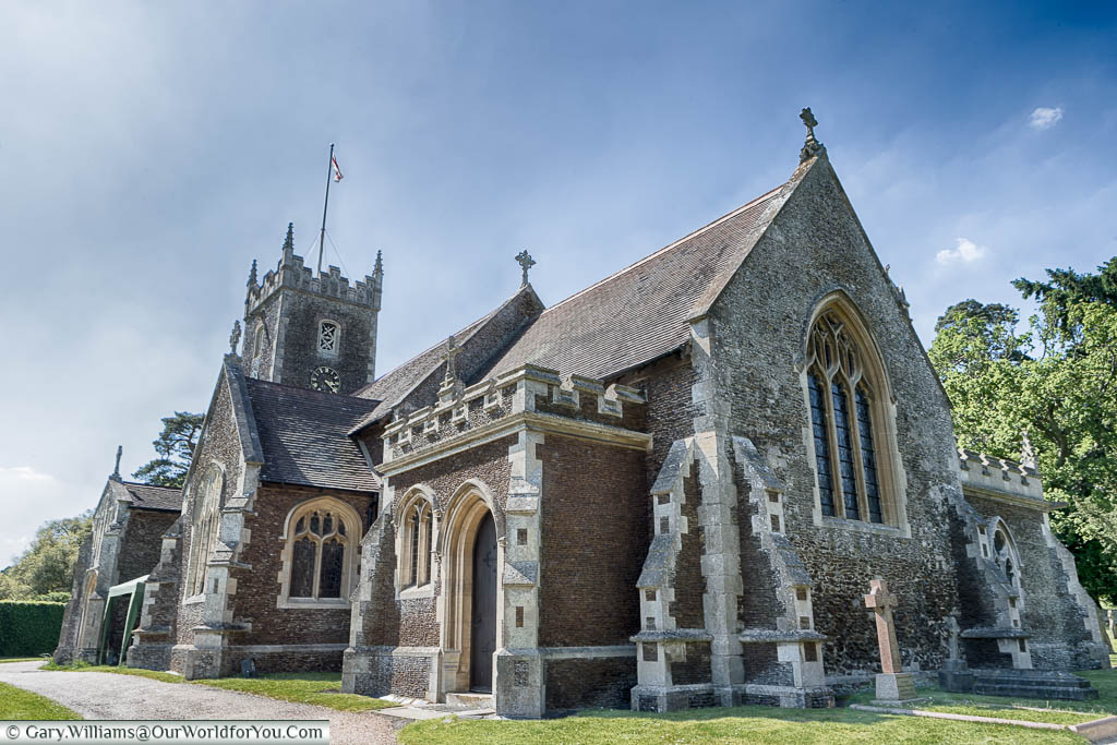 The rather small St Mary Magdalene's Church, used by the Queen and Royal Family at Christmas, in Sandringham, Norfolk