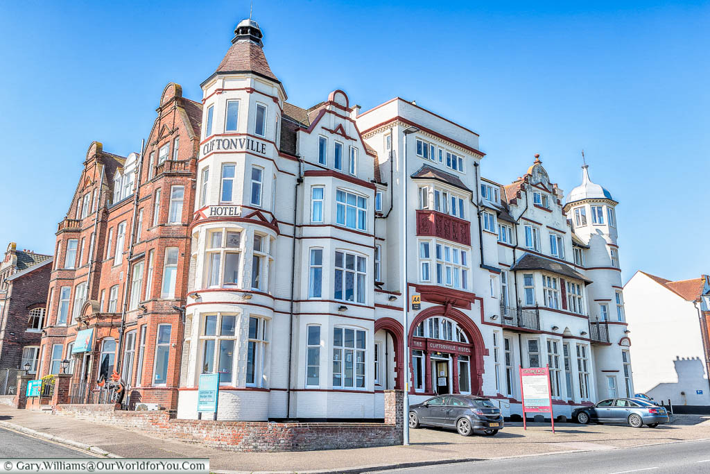 The exterior of the Victorian Cliftonville Hotel in Cromer, Norfolk