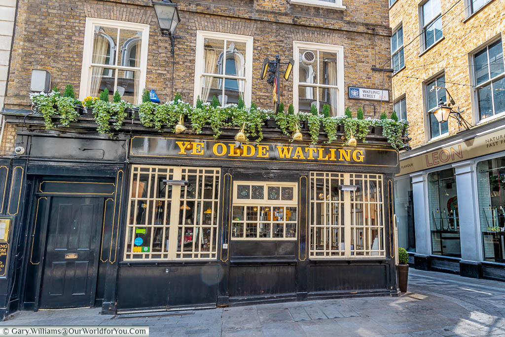 The Ye Olde Watling pub on Watling Street, a traditional tavern, on the historic London to Dover way.