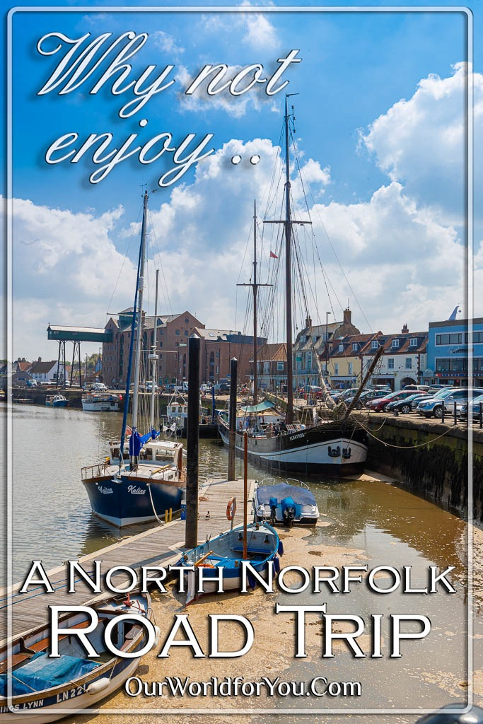 The Pin Image for our post - 'The North Norfolk road trip'