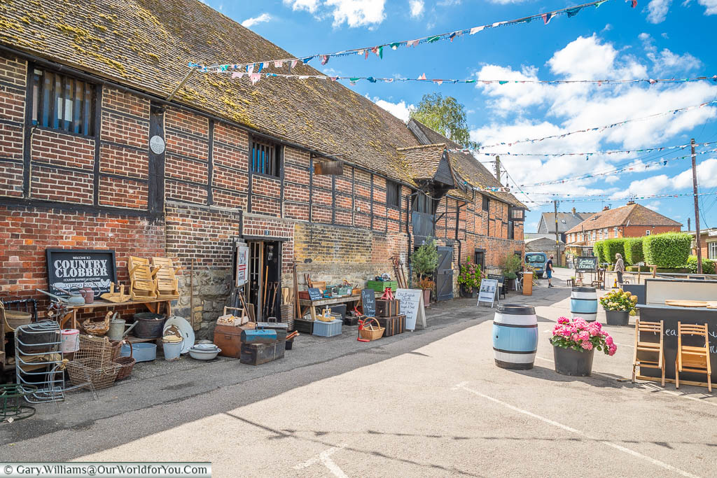 An antique store in the Medieval Monk's Granary at the Standard Quay, Faversham, Kent