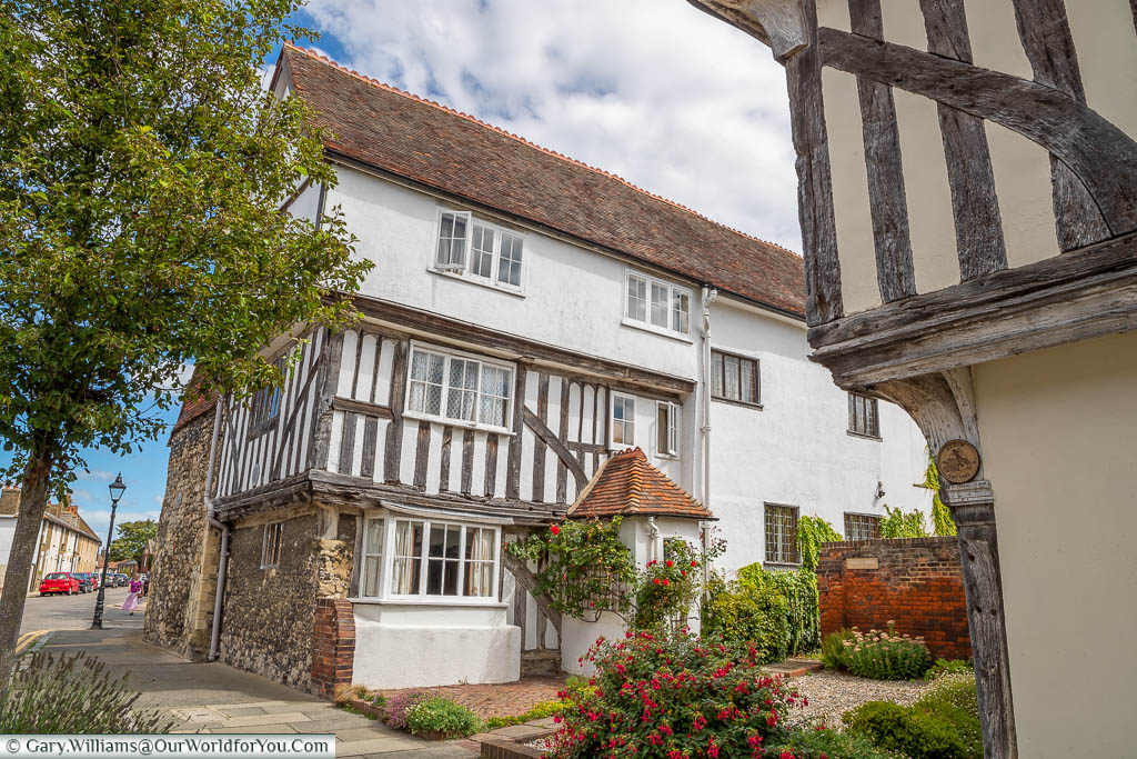 The beautiful Arden House on Abbey Street in Faversham, Kent