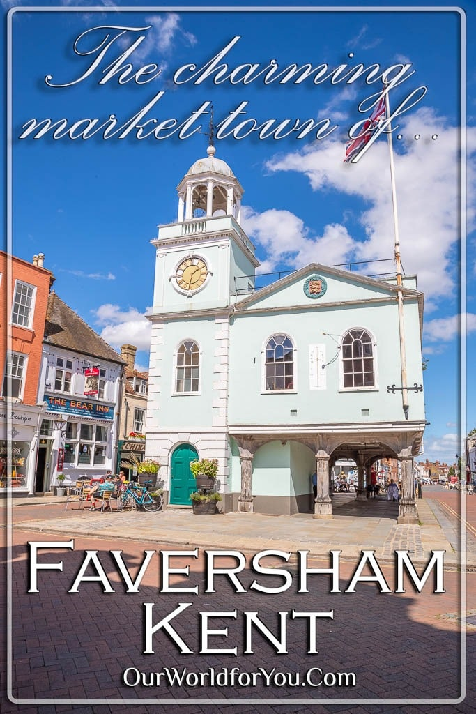The pin image from our post - 'Faversham, a charming medieval market town in Kent, UK'