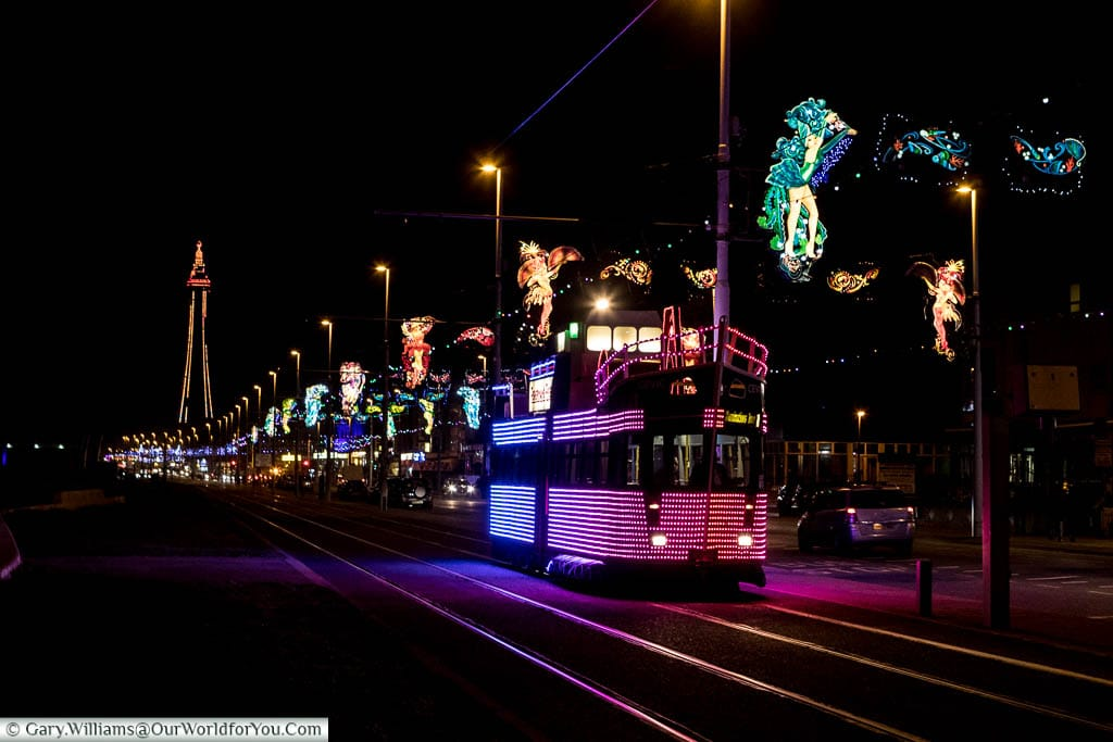 'The Trawler' tram, one of the special trams for Blackpool Illuminations