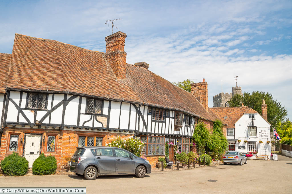 The half-timbered buildings of The Street in Chilham, Kent