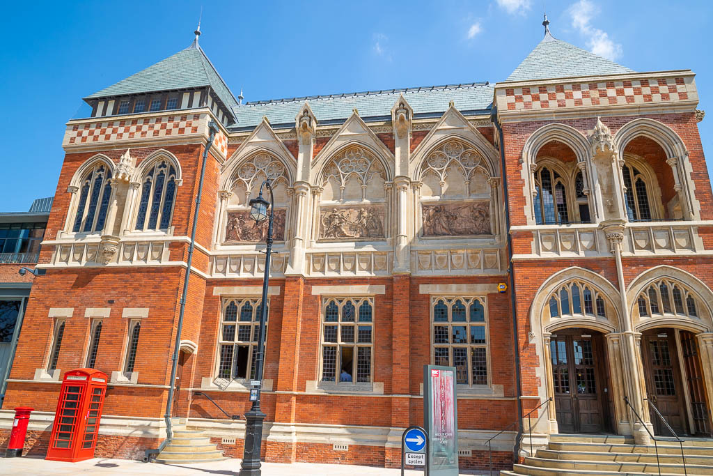 The entrance to The Swan Theatre in Stratford-upon-Avon