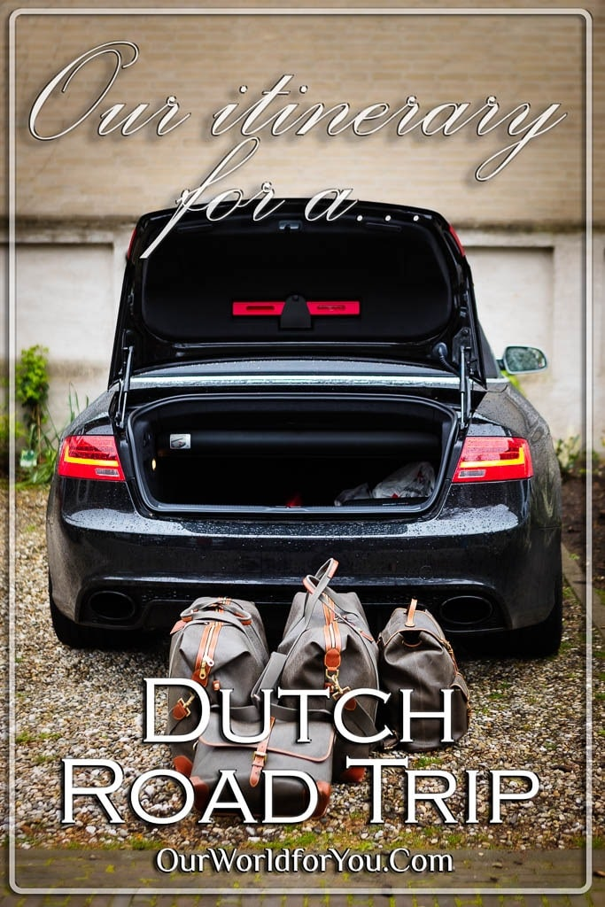 The pin image for our post - 'Our itinerary for a Dutch road-trip via Haarlem, Alkmaar & Utrecht '