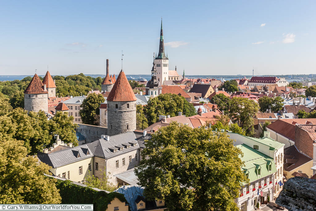The view of the old town of Tallinn from the Patkuli viewing platform
