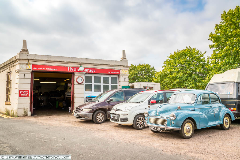 A tradition car repair garage in a 1920's building in Hythe