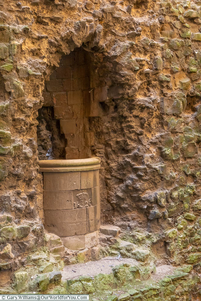 Rochester Castle's stone well, with the date 1826 on it so, therefore, a later restoration