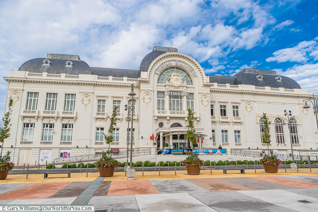 The elegant French colonial style Casino at Trouville, on the Normandy coast, built at the turn of the 20th century.