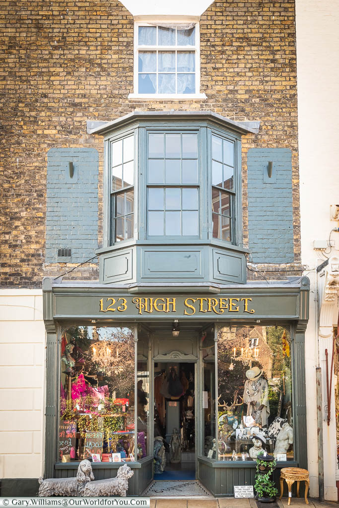 Number 123 High Street, a beautiful home interior shop on Deal's High Street