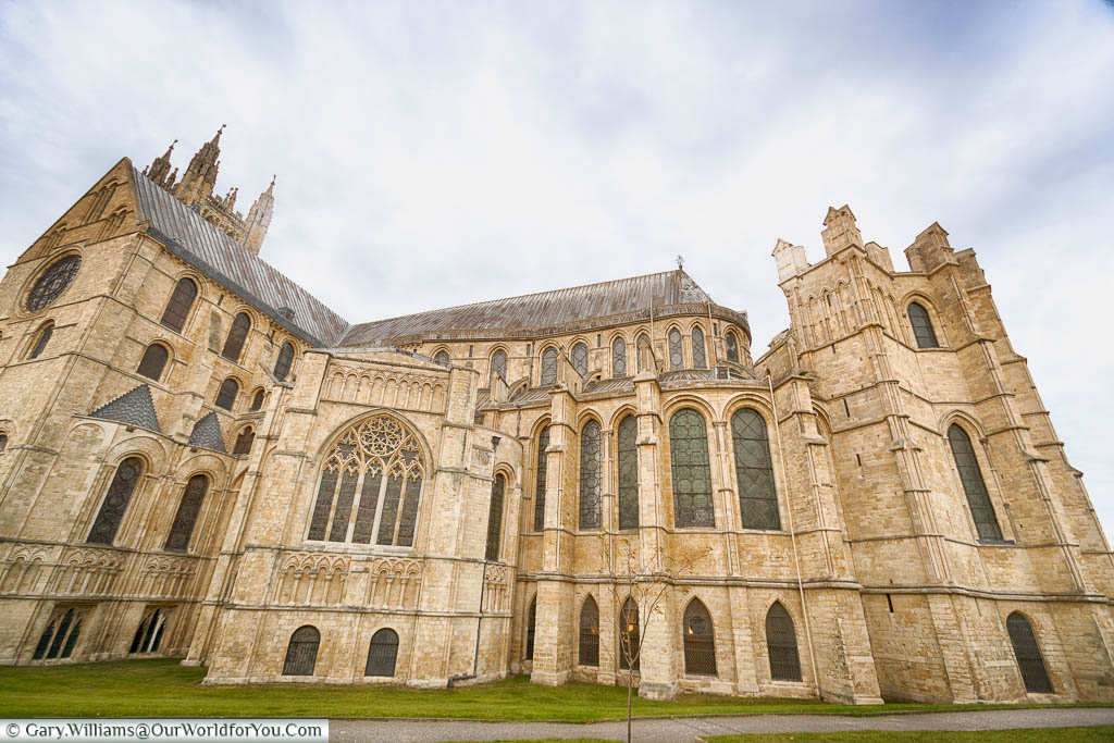 The Trinity Chapel end of Canterbury Cathedral.