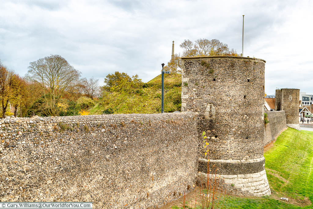 The old medieval stone walls of Canterbury