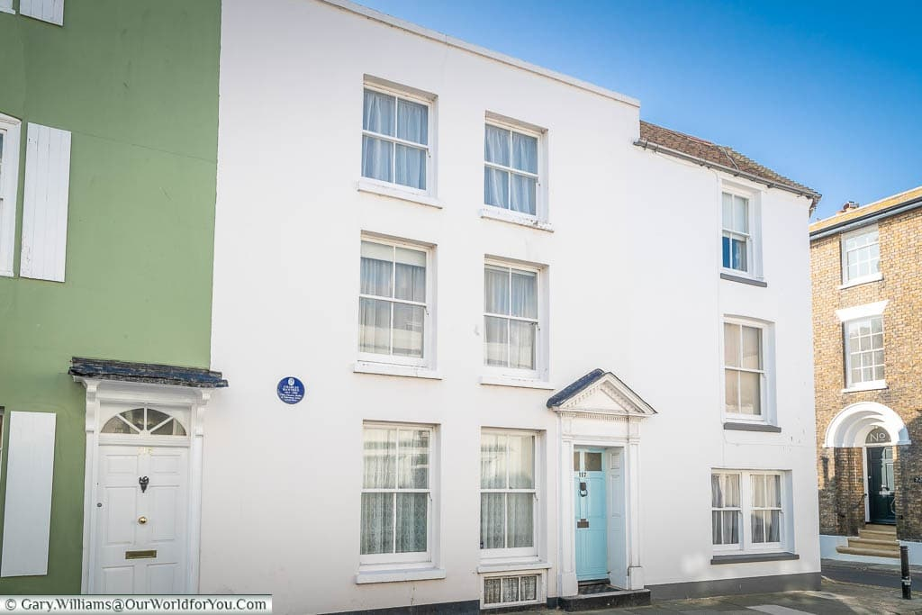 Number 117 Middle Street Deal with its Blue Plaque declaring it was the former home of Charles Hawtrey, 'Carry-on' actor