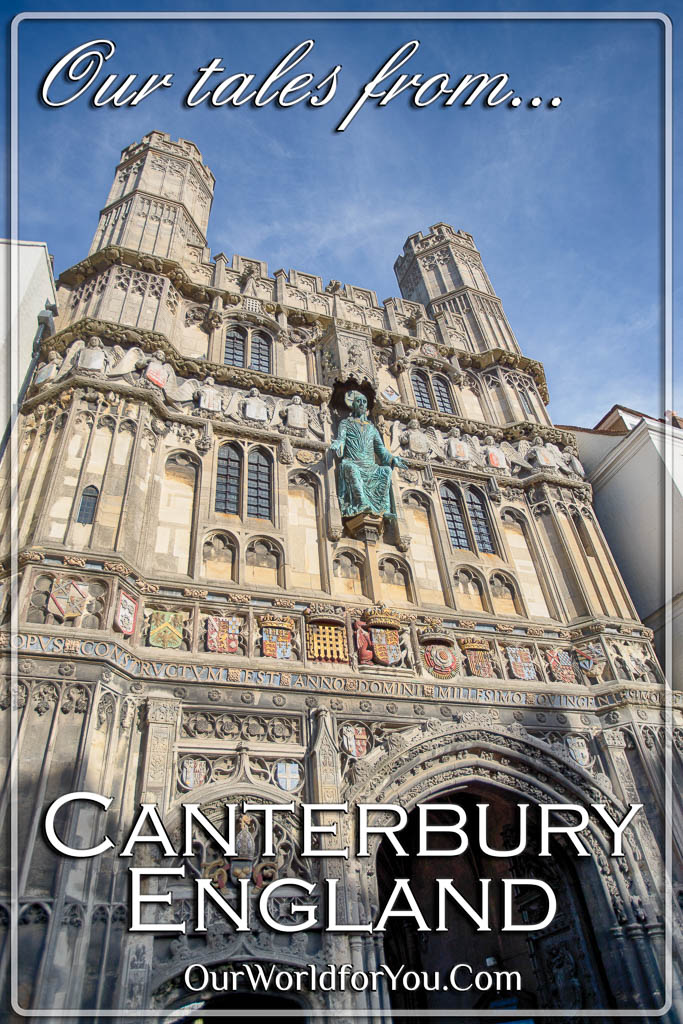 The Pin image from our post - 'Our Tales from Canterbury, Kent, England'