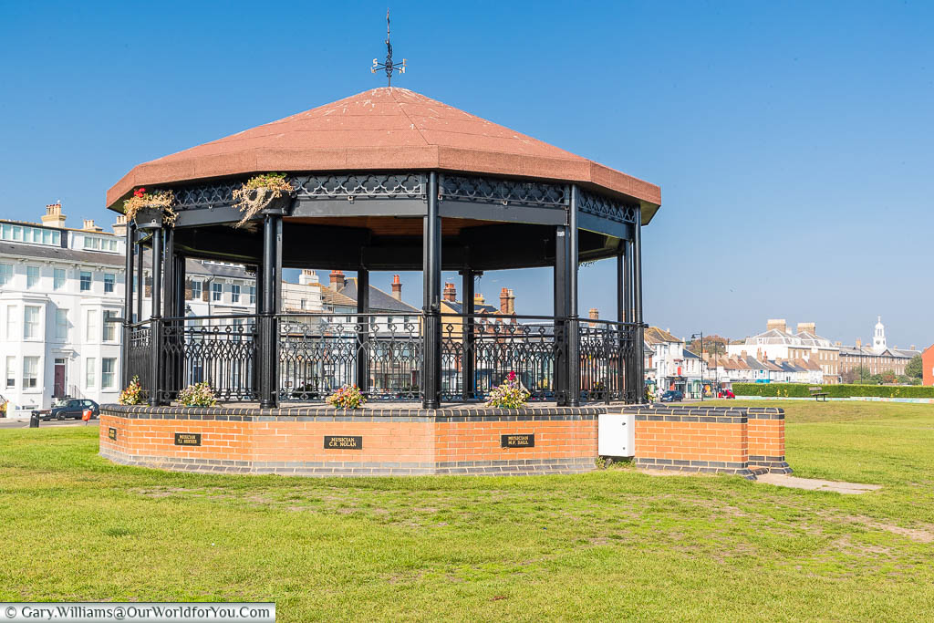 The Deal Memorial Bandstand on the promenade at Deal, Kent