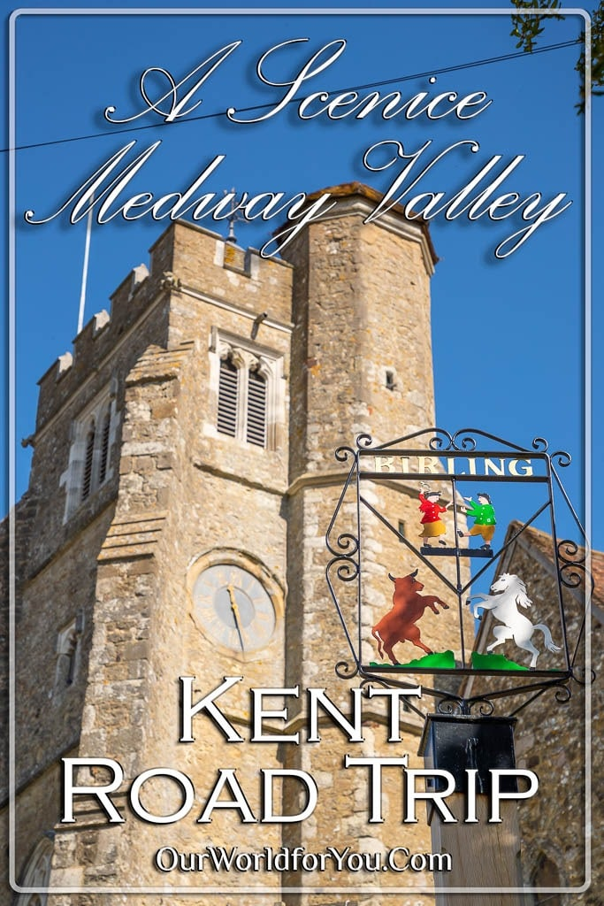 The pin image for our post - 'A Scenic Medway Valley, Kent Road Trip'