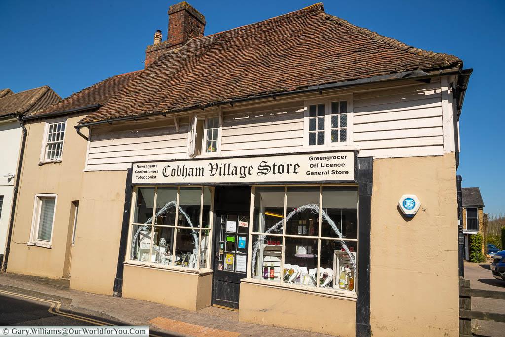 The Cobham Village Store halfway down the High Street