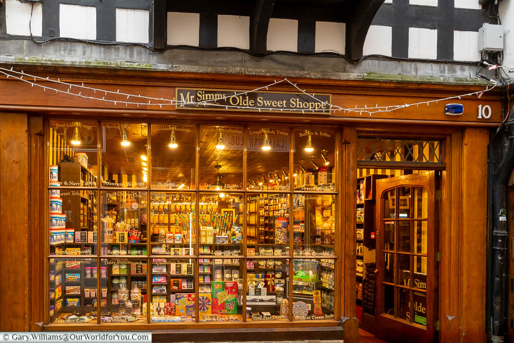 A traditional sweet shop on Mercer Lane in Canterbury