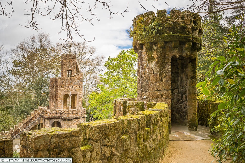 The Portal of the Guardians in the gardens of the Quinta da Regaleira in Sintra, Portugal