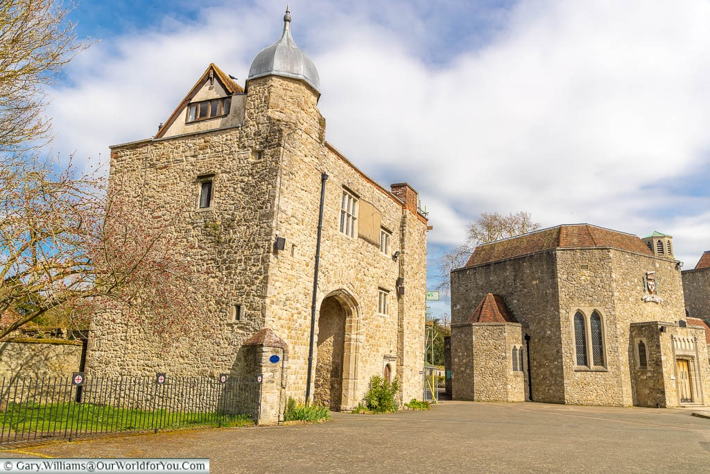 The medieval gatehouse at the Aylesford Priory in Kent