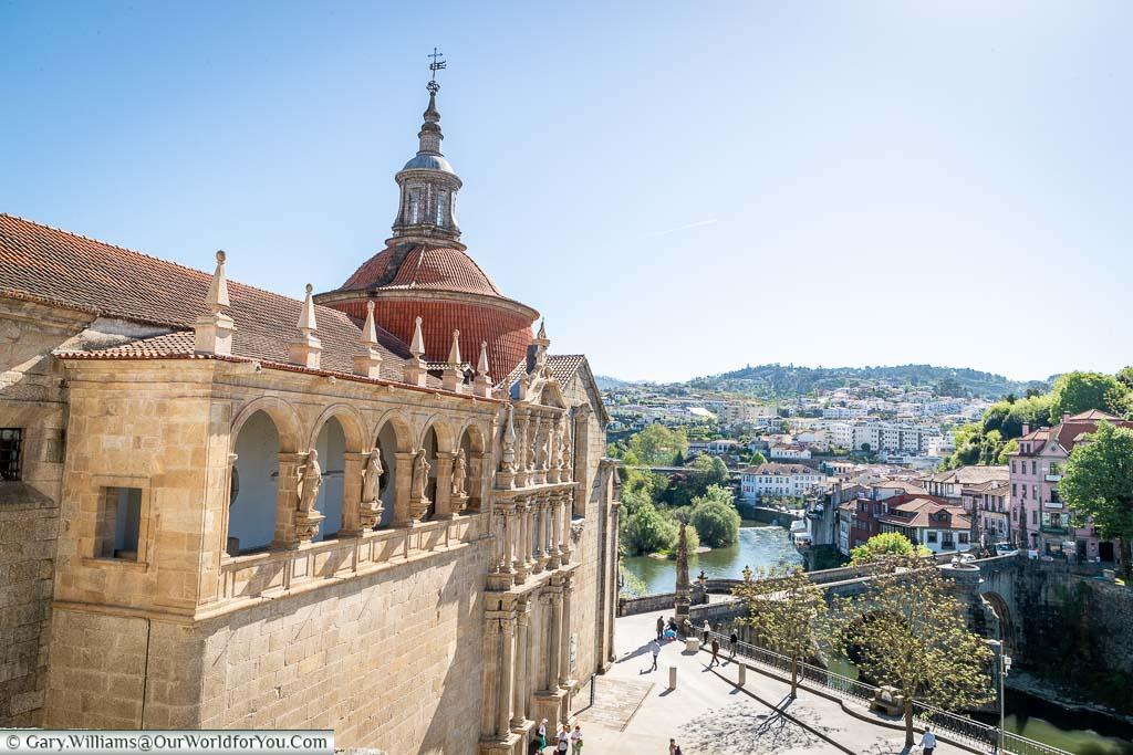 The view of the church 'Igreja de São Gonçalo' in Amarante, Portugal