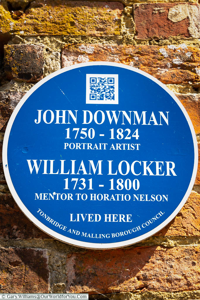 A Tonbridge & Malling Borough council blue plaque to Blue plaque of John Downman & William Locker on Went House, West Malling