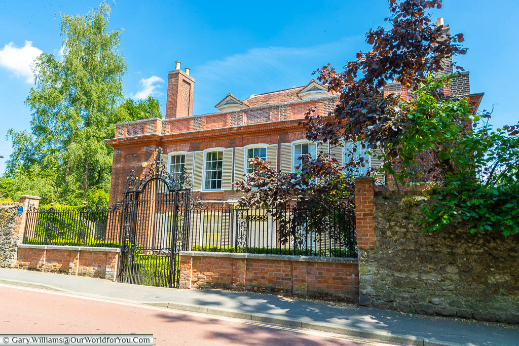 A red brick, late Stuart mansion in the Queen Anne style at the lower end of Swan Street in West Malling