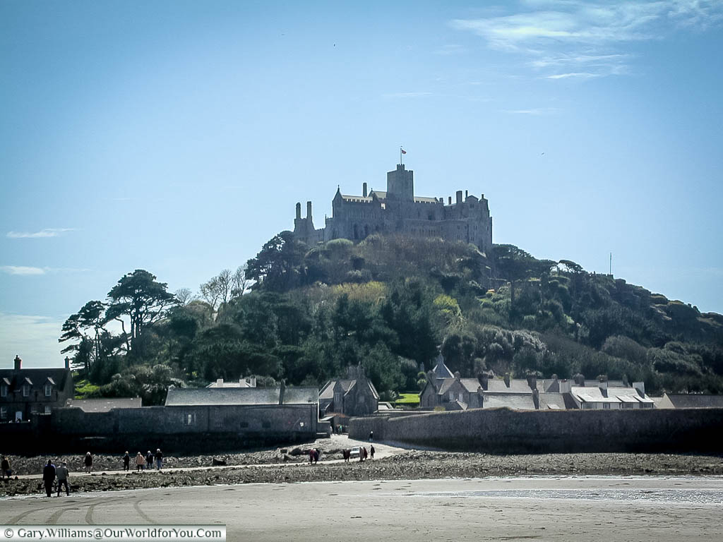 A view of Saint Michael's Mount in Cornwall from 2002.