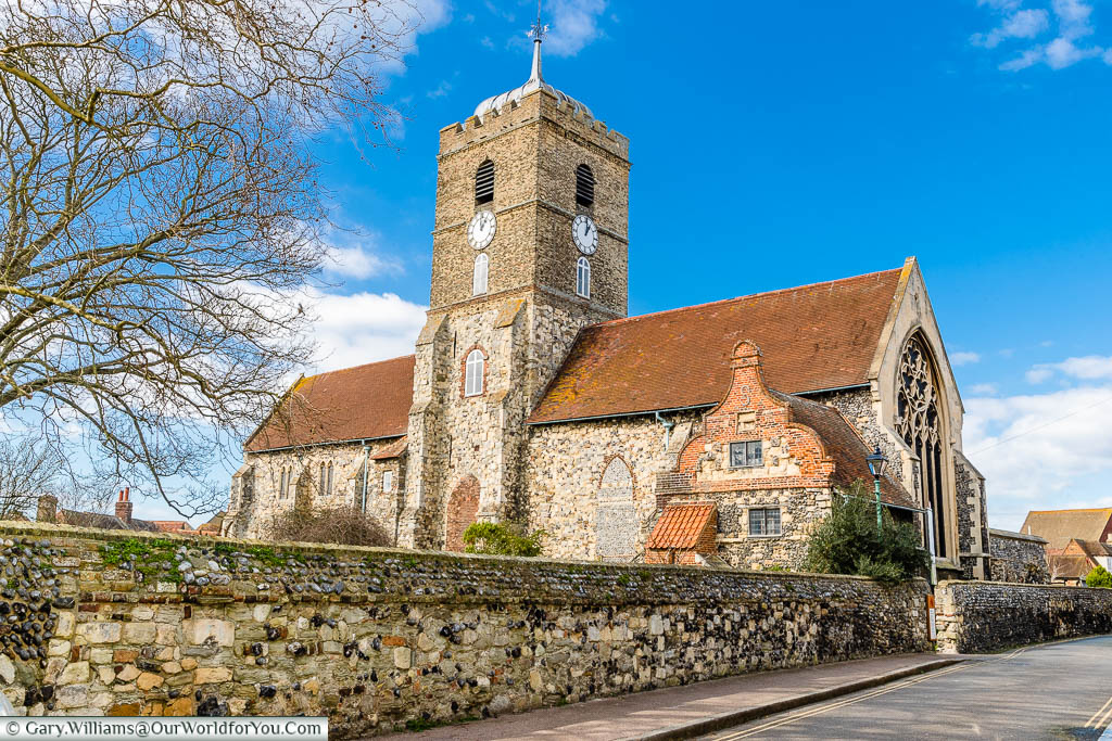 The 13th-century rebuilt church of St Peter's on St Peter's Street in Sandwich, Kent