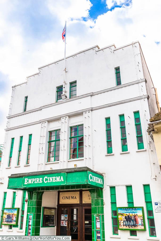 The art nouveau Old Empire Cinema in Delft Street, Sandwich, Kent