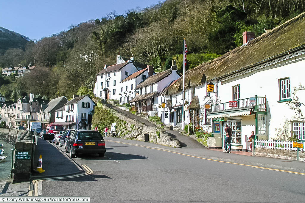 The quaint harbourside at Lynmouth on the north Devon coast